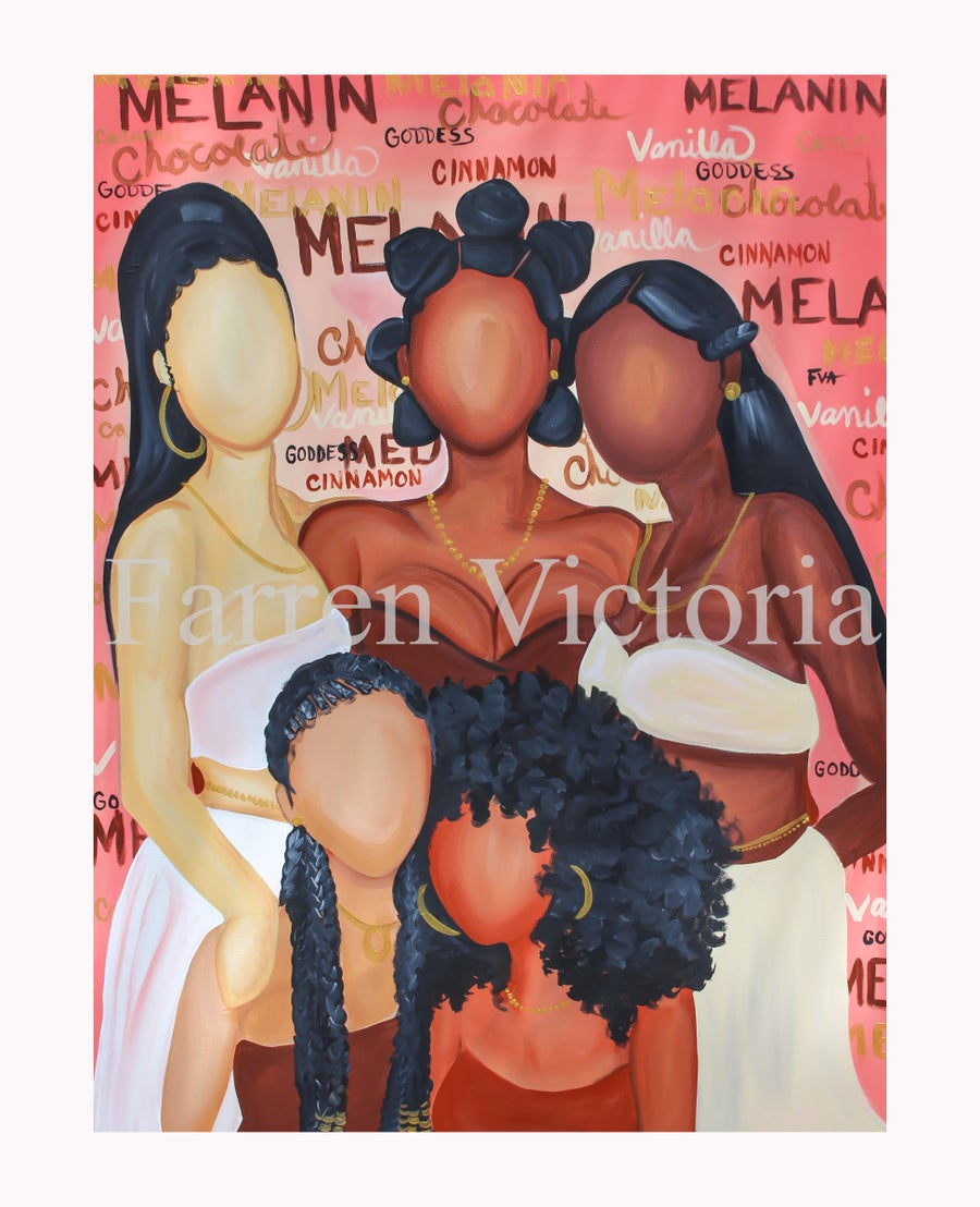 Image of Melanin Canvas Print