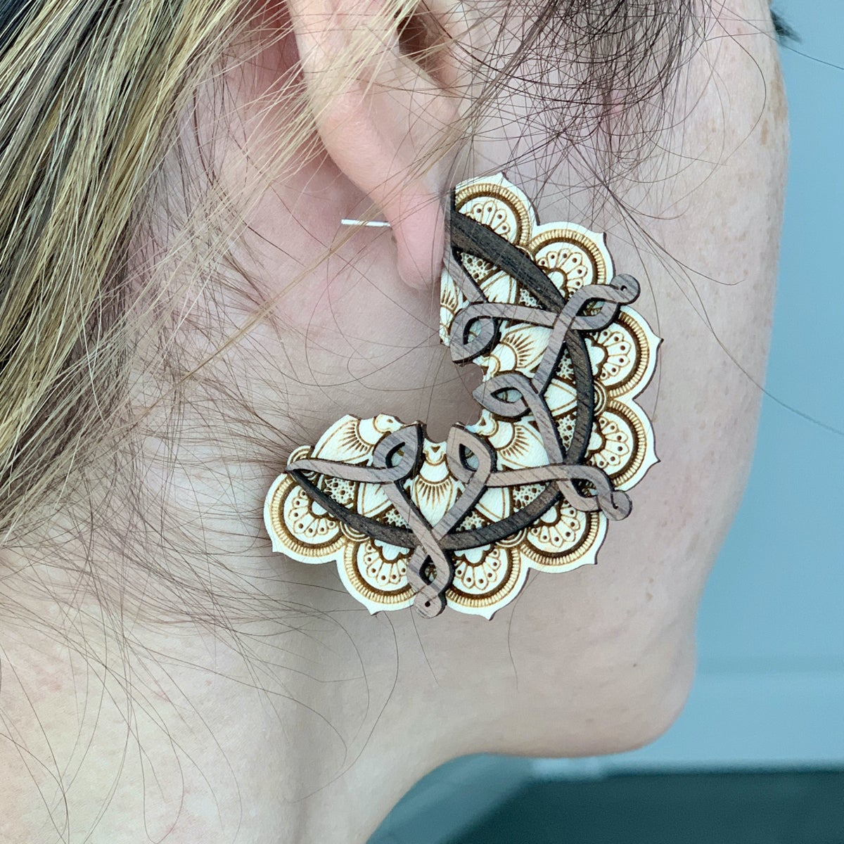 Image of Mandala Statement Earrings