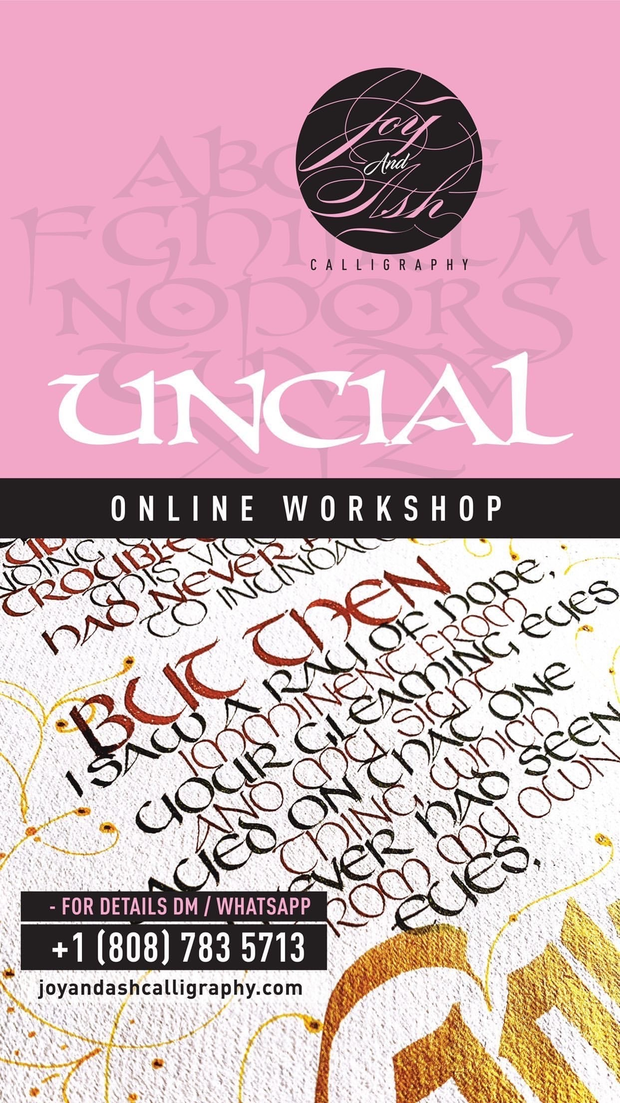 Image of ONLINE WORKSHOP - UNCIAL  SCRIPT - FLEXIBLE PAYMENT OPTION*