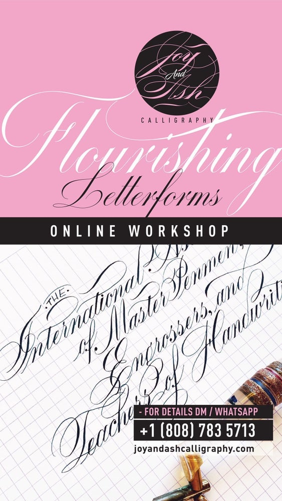 Image of ONLINE WORKSHOP - FLOURISHING LETTERFORMS (ENGROSSER'S SCRIPT ADD-ON)