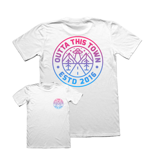 Image of Cosmic Logo T-shirt White
