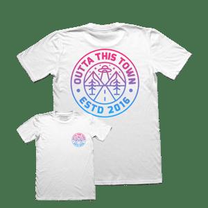 Image of Cosmic Logo T-shirt White 👽