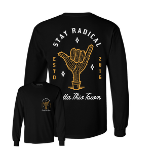 Image of Shaka Cactus Long Sleeve T-shirt Black