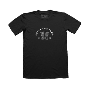 Image of Punk Hands T-shirt Black