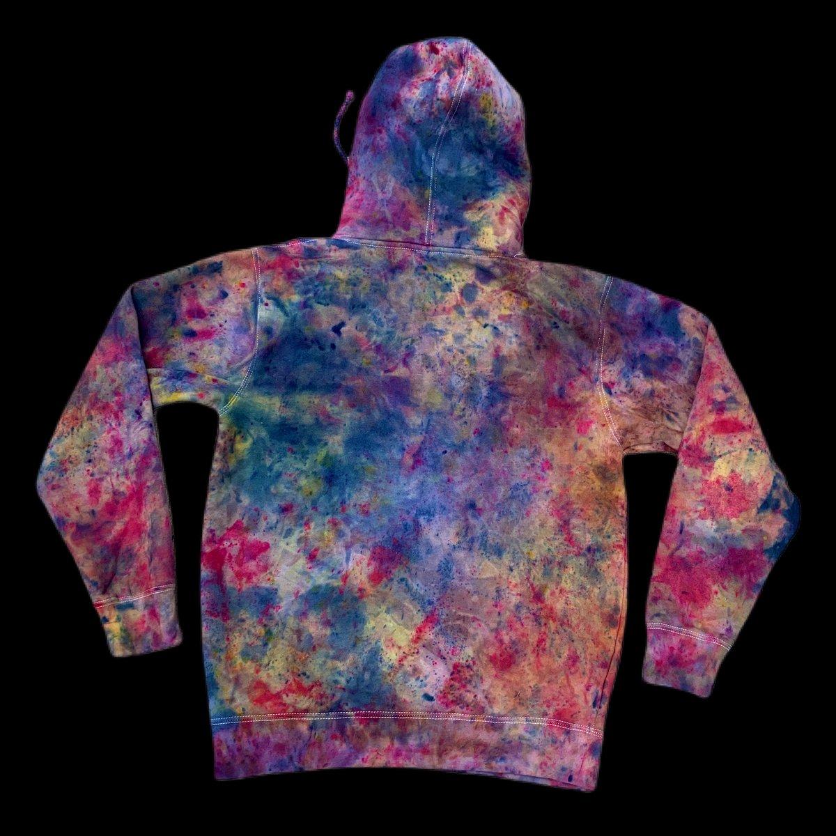 Custom Hand Dyed Heavyweight Pullover Hoodies! - Blue Razz Rainbow