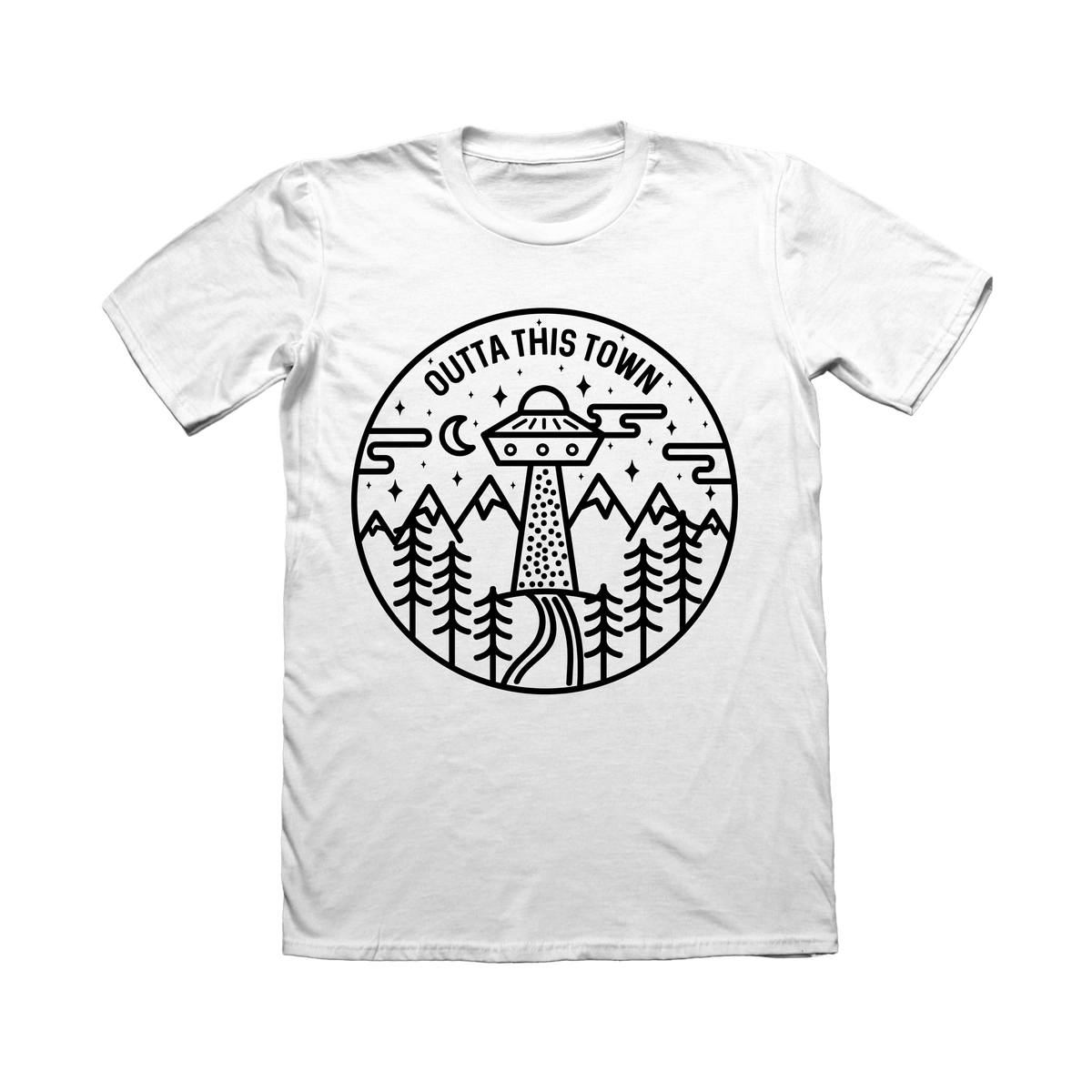 Image of UFO Circle T-shirt White