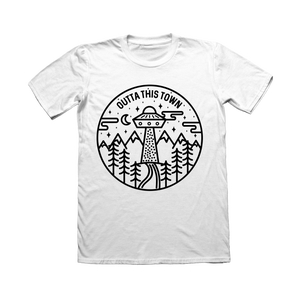Image of UFO Circle T-shirt White 🛸