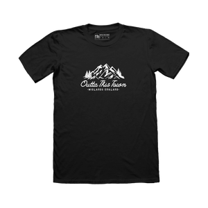 Image of Mountains T-shirt Black