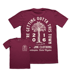 Image of Palm Pride T-shirt Maroon