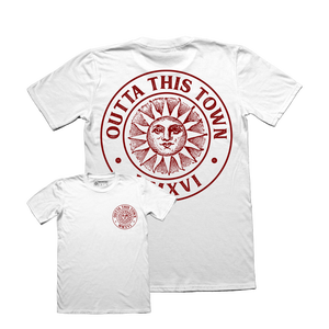 Image of Sun Badge T-shirt White