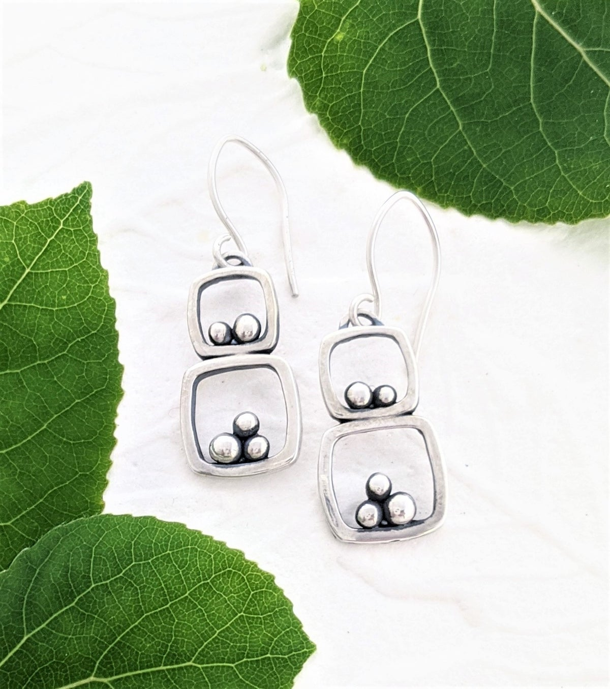 Image of Double Rock Cairn Earrings