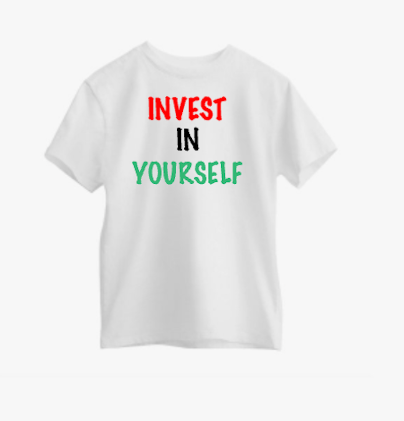 "Gray ""Invest In Yourself"" Tee"