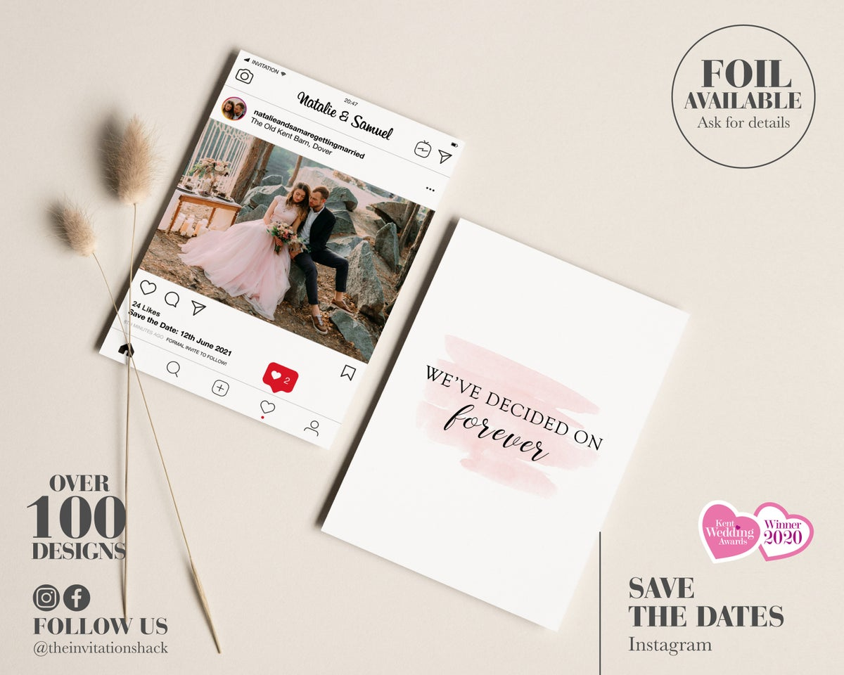 Instagram Save the Dates