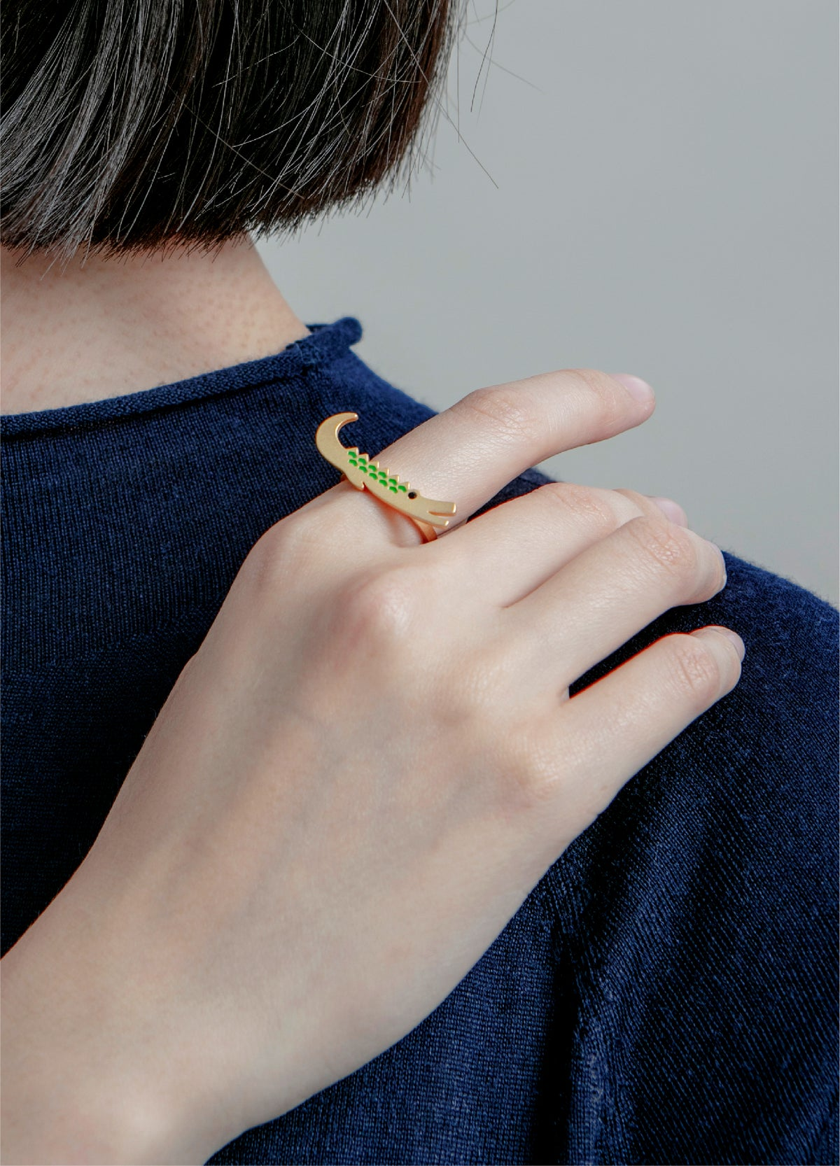 Image of Crocodile brothers ring - 18K gold plated Stainless steel