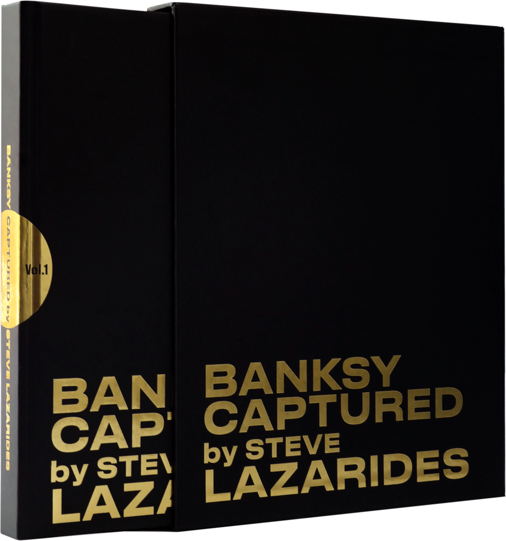 "Image of BANKSY CAPTURED ""BLACK HARDBACK EDITION"" - LIMITED TO 1000 - BRAND NEW UNOPENED"