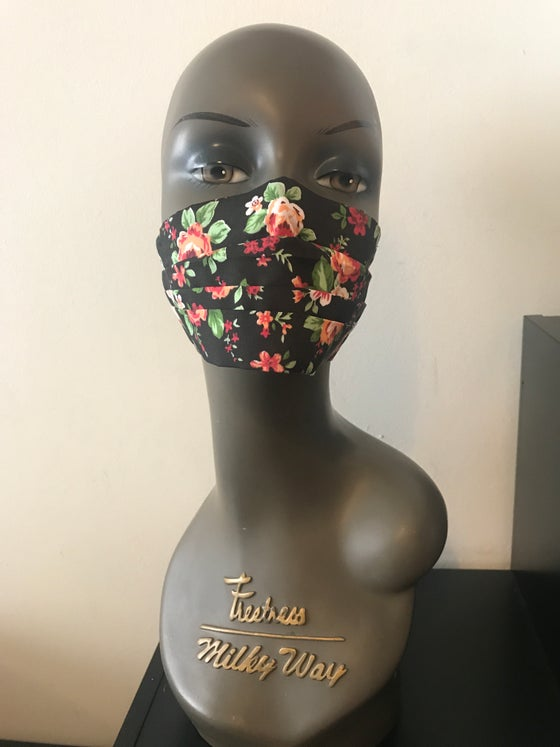Image of Roses print face mask