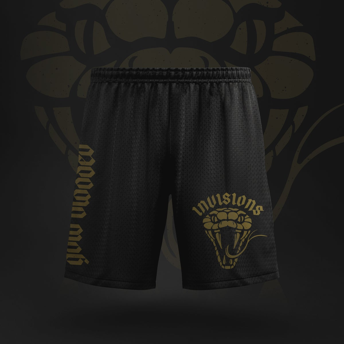 Image of Gold Blooded - Mesh Shorts