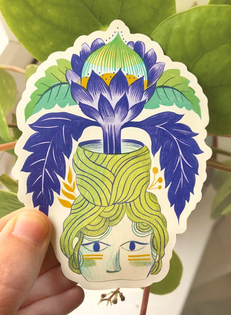 Image of The Green Woman large sticker