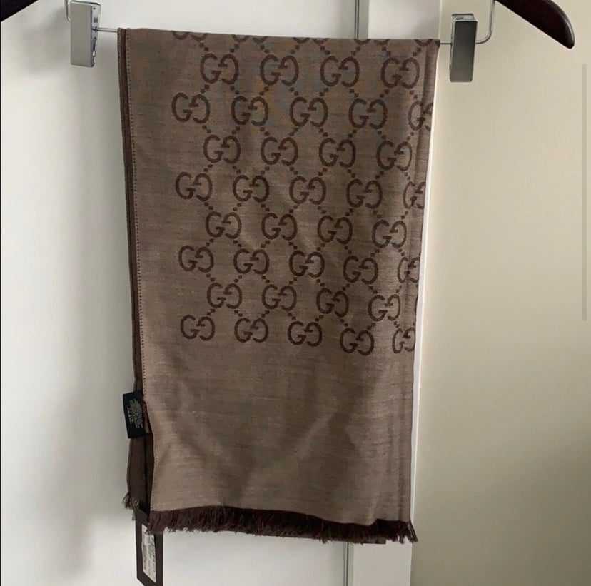 Image of NWT Gucci Wool X Silk Scarf
