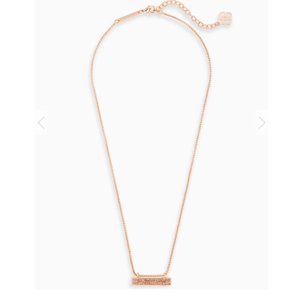 Image of NWT Kendra Scott Leanor Rosegold Druzy Necklace