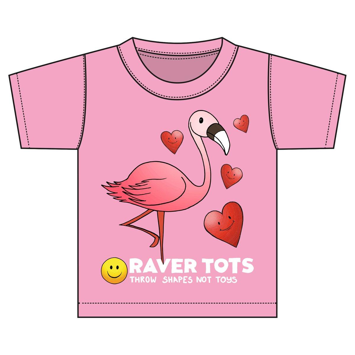 "Raver Tots ""Pink Flamingo"" Tee"