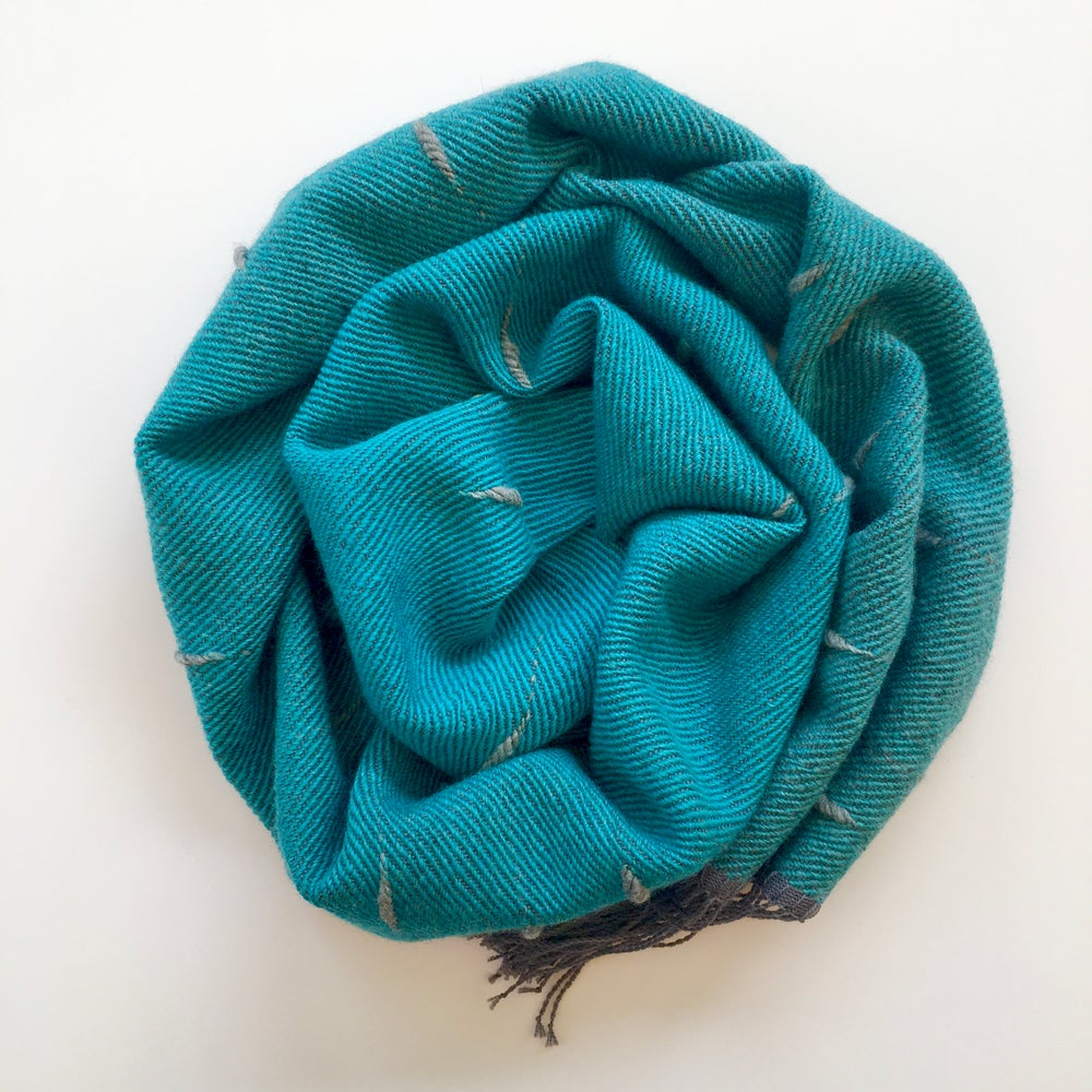 Image of Scarf Puff - Cerulean blue