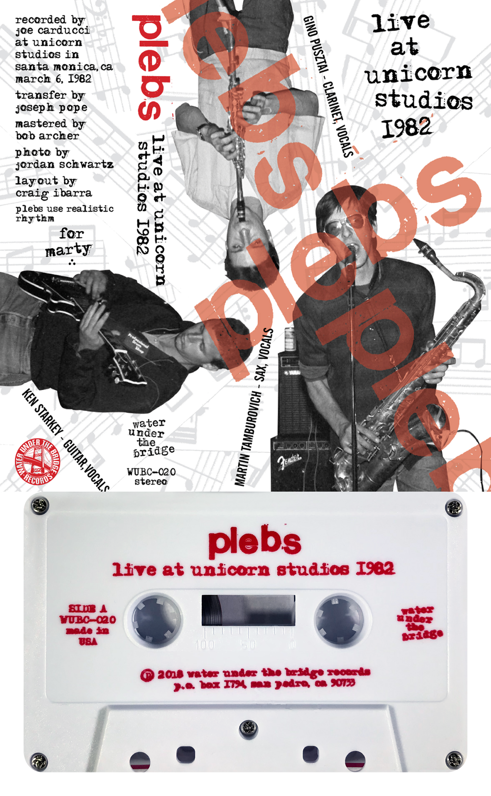 PLEBS - Live at Unicorn Studios 1982 → cass
