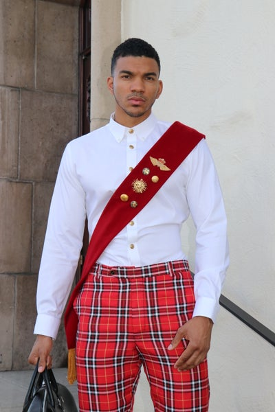 Image of Red velvet sash