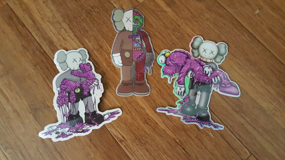 "Image of Siplean ""Kaws"" 4"" Sticker Pack"