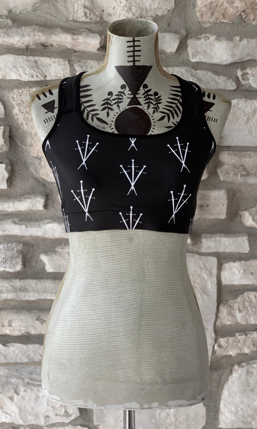 Image of THREE OF SWORDS SPORTS BRA