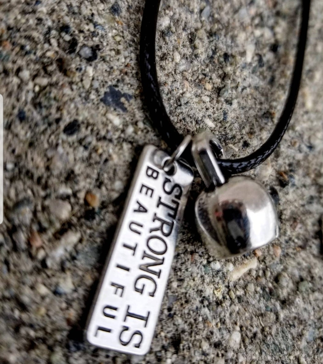 Image of Personalized Work Out Charm Necklace.