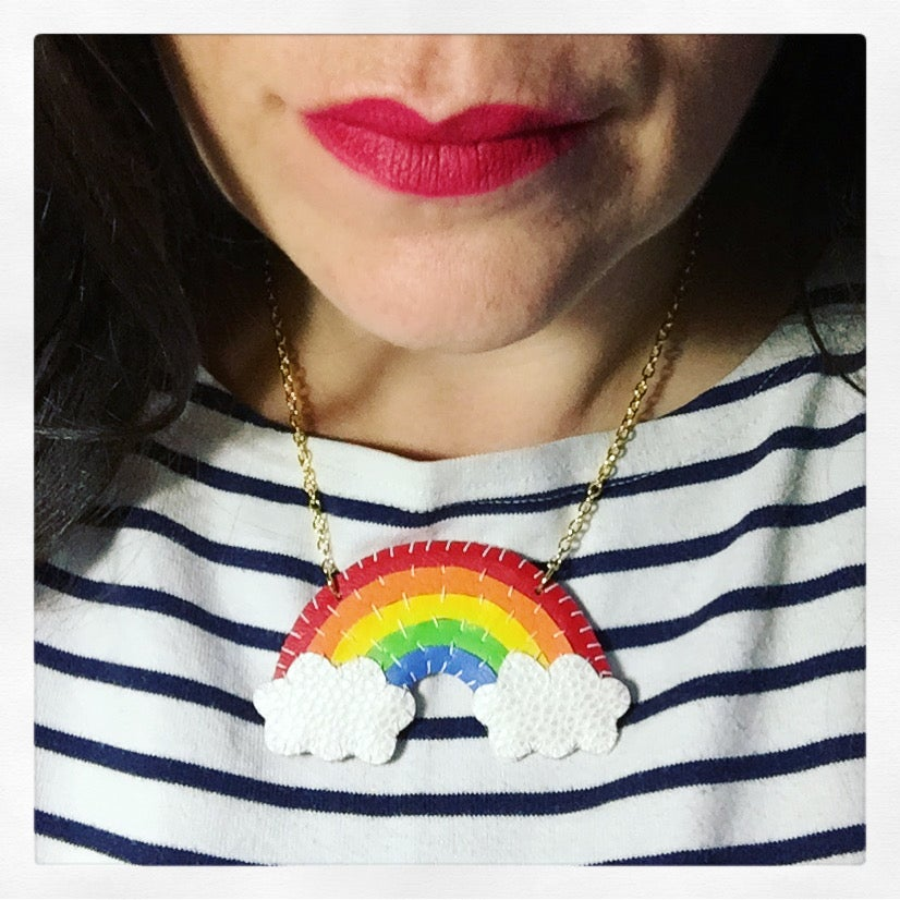 Image of Red Rainbow Necklace