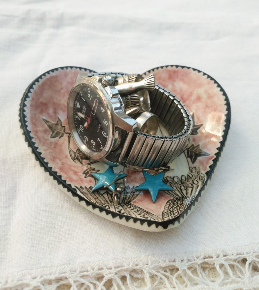 Image of Hands Entwined Heart Dish