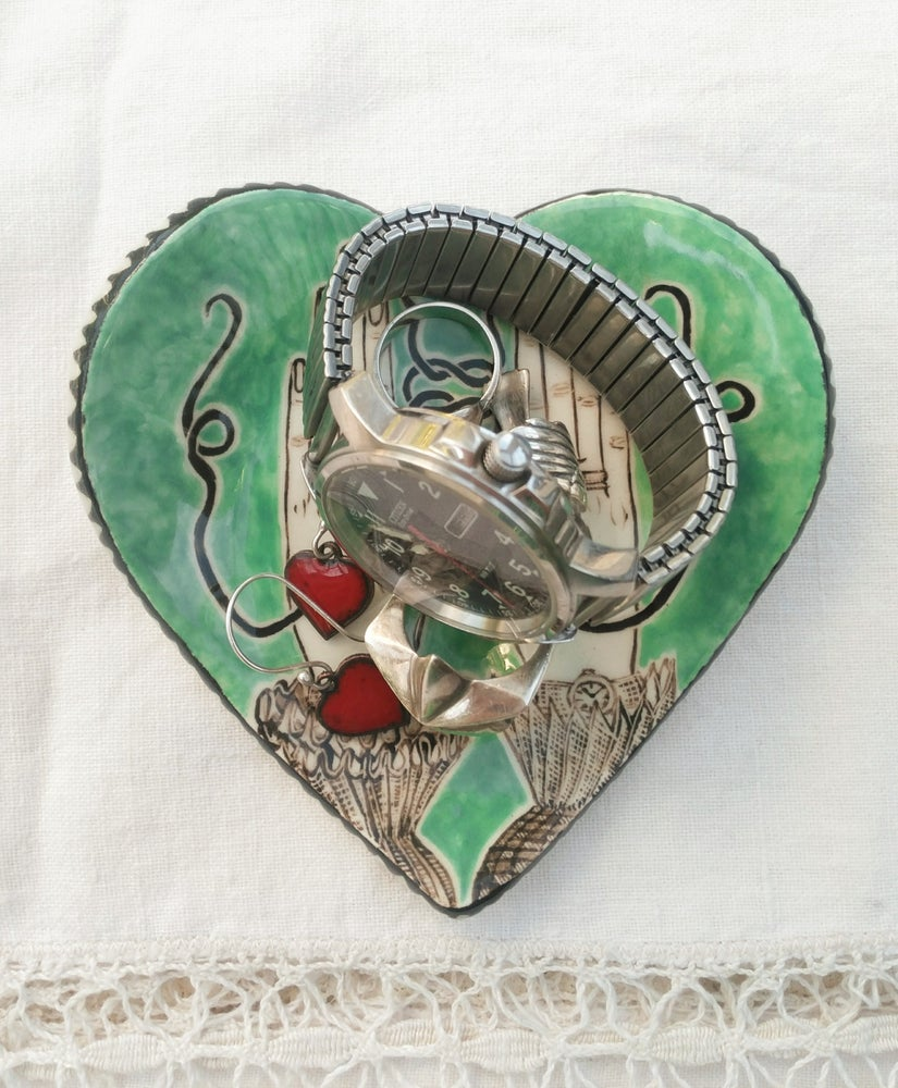 Image of Tie the Knot Heart Dish