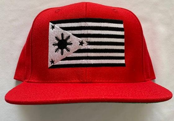 Image of Red FIl-am Flag SnapBack