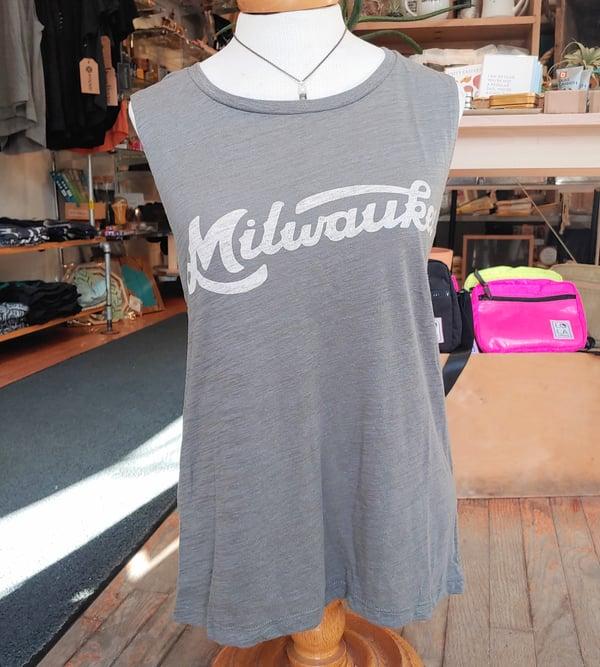Image of Milwaukee Retro Script Ladies Muscle Tank
