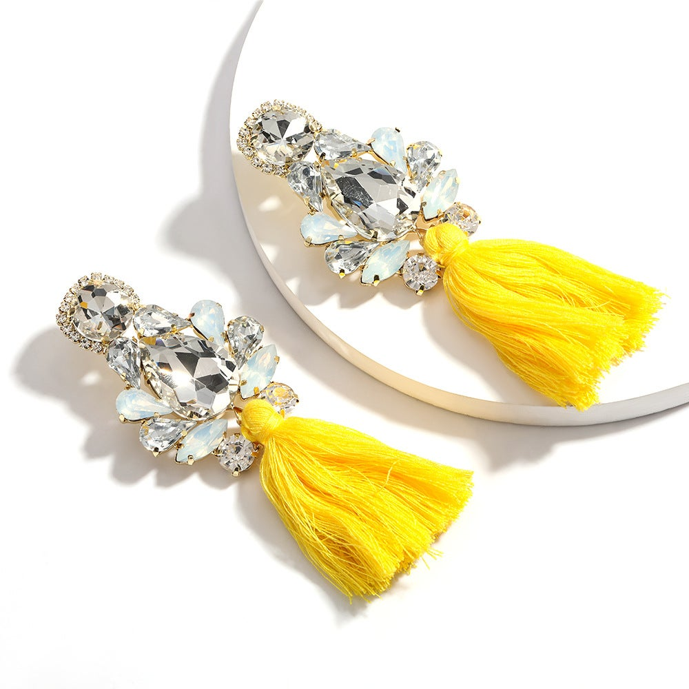 Image of Multi-Layer Drop Shaped Earring ~ Yellow