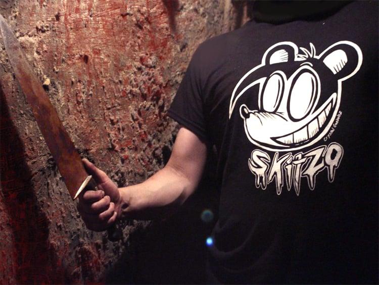 Skitzo Grins T-shirt -WHITE