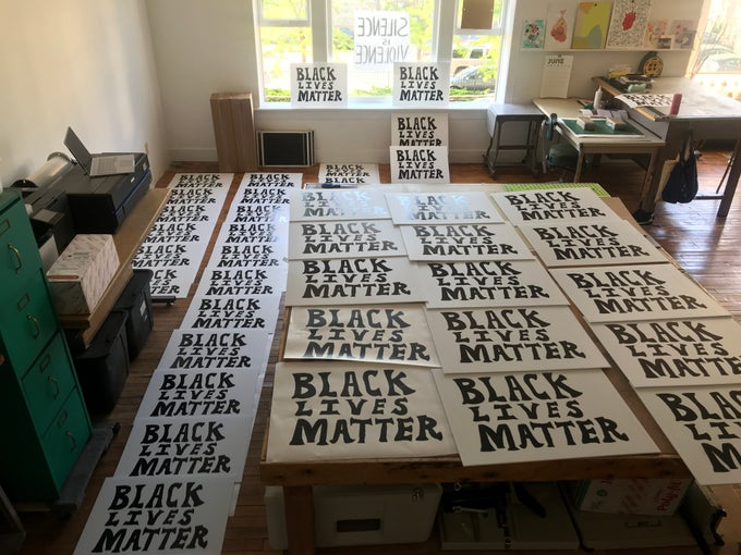 Image of Black Lives Matter yard sign (100% sales donated after $2.40)