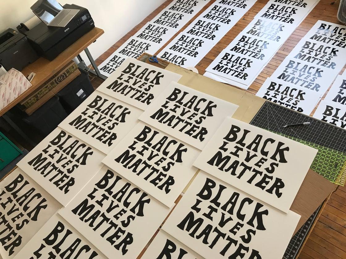 Image of Black Lives Matter yard sign (100% sales donated after $2.40)