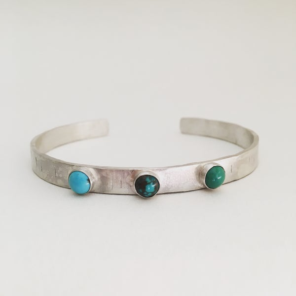 Image of Turquoise & Sterling Silver Cuff