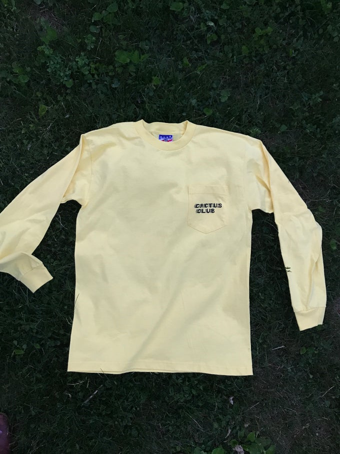 Image of Desert USA-made long sleeve with pocket tee