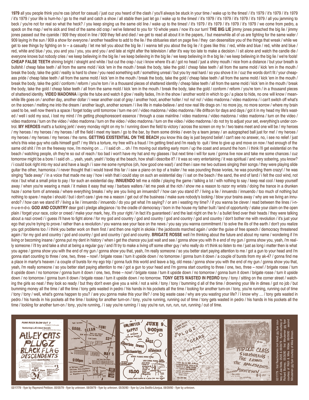 THE REACTIONARIES - 1979 Ltd. Edition → lp