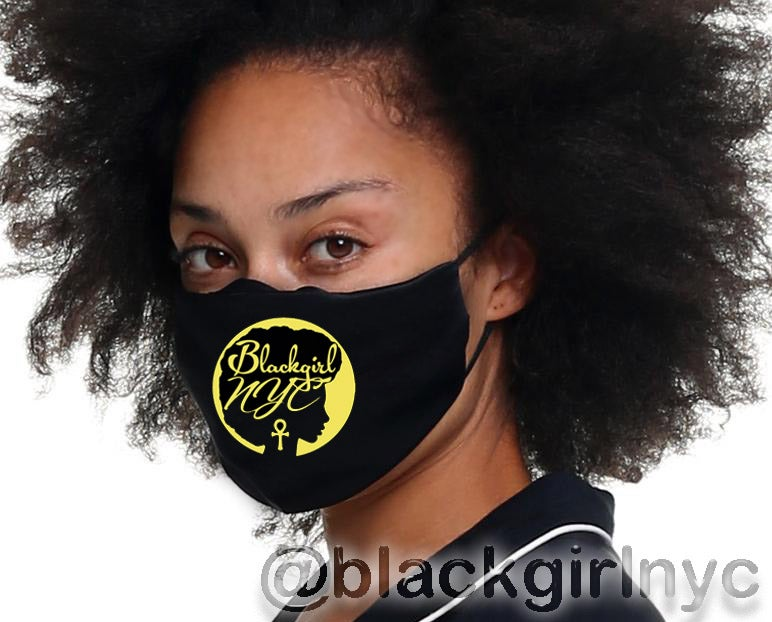 Image of Black Girl NYC LOGO Face Mask Cover