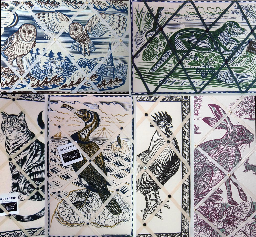 Image of Richard Bawden Animals, Fabric covered Memo Boards