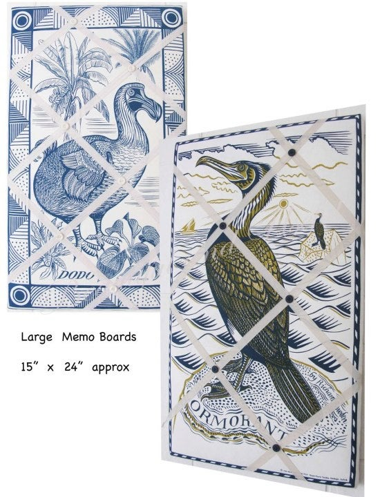 Image of RICHARD BAWDEN BIRDS, FABRIC COVERED MEMO BOARDS Page 2