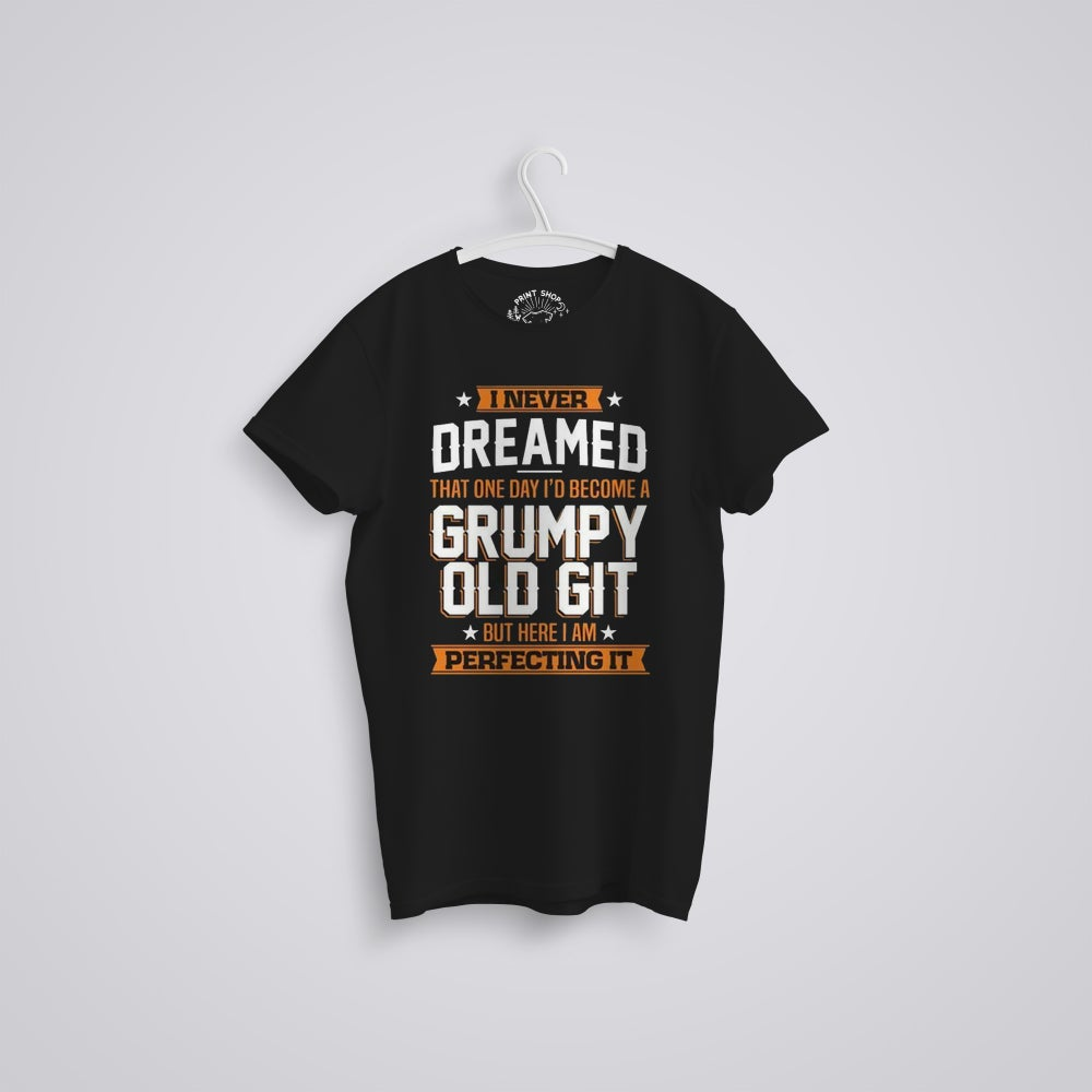Image of Grumpy Old Git Funny Father's Day Organic T-Shirt