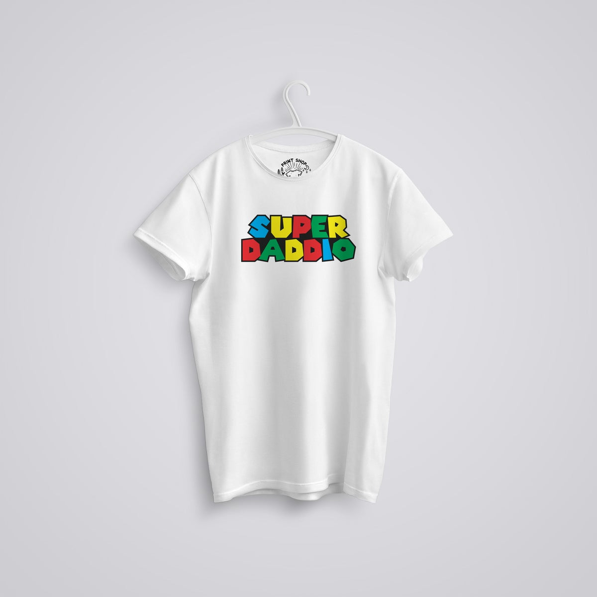 Image of Super Daddio Mario Father's Day T-Shirt