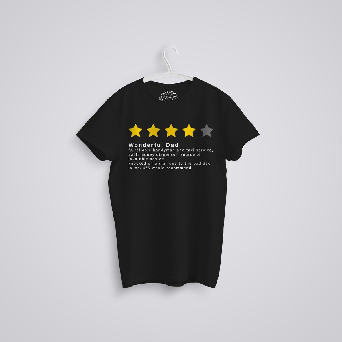 Image of Dad Review Funny 4/5 stars Father's Day Organic T-Shirt
