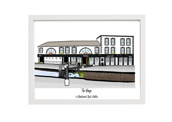 Image of The Barge A4 Framed